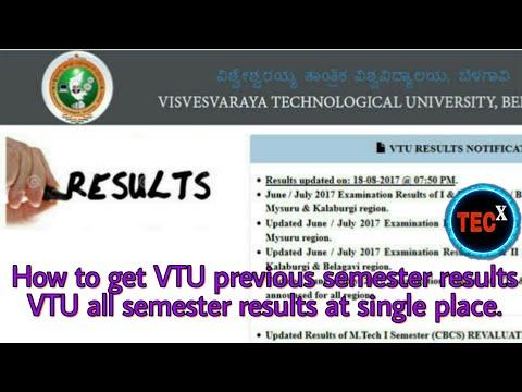 VTU Crash Course 5th Sem Result 2017 Download June VTU Crash Course 7th Sem results
