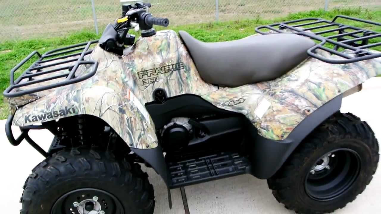 2011 Kawasaki Prairie 360 4X4 Camo: Overview and Review - YouTube