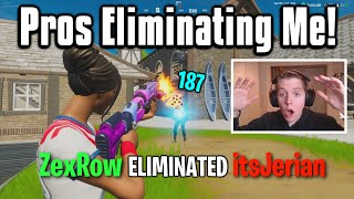 Reacting To Pro Players Eliminating Me In Fortnite! (Very Funny)