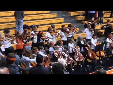 Corvallis Waldorf School Performs National Anthem (Eli and Friends)