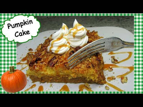 Pumpkin Cake ~ Thanksgiving Pumpkin Pie Dump Cake Recipe 🎃