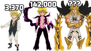 Meliodas POWER LEVELS All Forms (Updated)