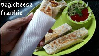 Veg.cheese frankie recipe|| street food delicious cheesy frankie recipe in hindi.👸ankita solanki👸