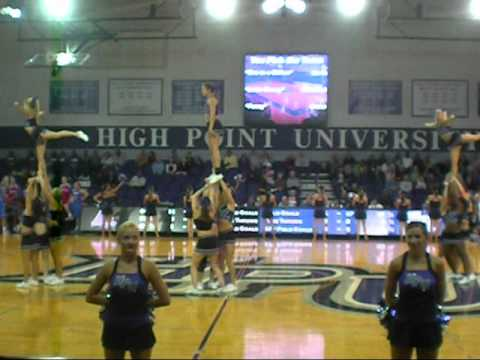 High Point University Cheerleading 2010 - YouTube