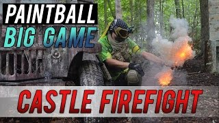 PAINTBALL CASTLE FIREFIGHT - MIRABEL BIG GAME! [Part 2]
