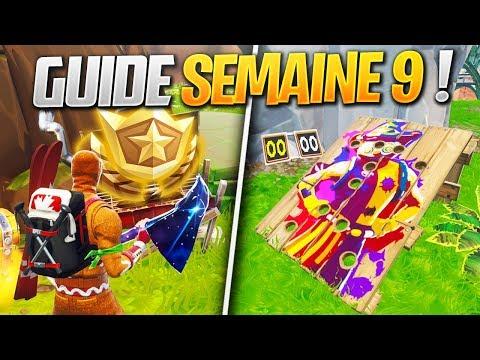 GUIDE COMPLET DES DÉFIS DE LA SEMAINE 9 SAISON 6 DE FORTNITE ! (Fortnite Astuce)