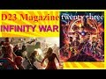 "Disney D23 Magazine ""Twenty-Three"" INFINITY WAR / ANTMAN & THE WASP Articles Marvel"