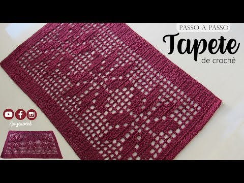 Tapete de crochê simples | Floral - JNY Crochê