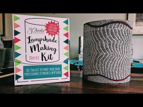 How To Make Lampshades Series - Part 2  - Peg Rings To Lampshade Paper