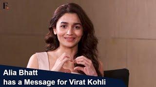 Alia Bhatt has a message for Virat Kohli | Celebrity DMs | SHOWSHA
