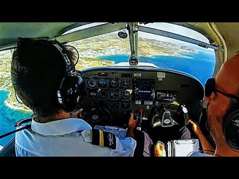 FIRST LANDING AT PAROS NEW AIRPORT! Piper Warrior III Touch and Gos at Paros - Cockpit View & Audio