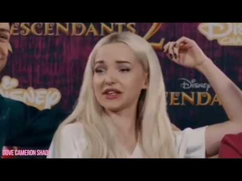 what is dove cameron laughing about?