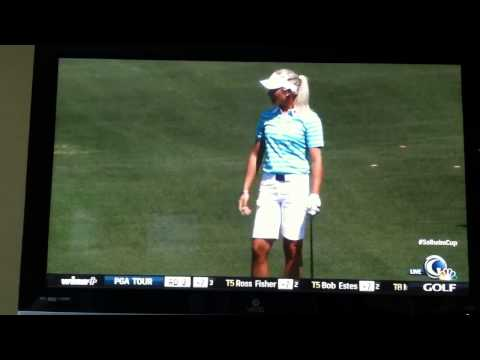 Suzann Pettersen dropping F bomb during Solheim Cup