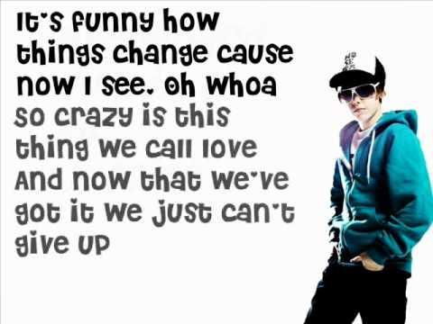 Overboard - Justin Bieber Ft.  Jessica Jarrell  (Lyrics on screen)