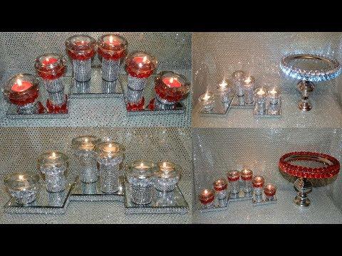 Dollar Tree DIY Candle Holders Centerpieces| DIY Elegant Handmade Gift Set Ideas