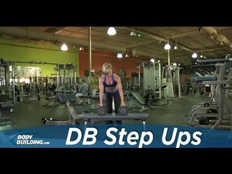 Dumbbell Step Ups - Leg Exercise - Bodybuilding.com