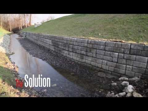 How to Stabilize Banks: Redi-Rock Retaining Walls Video