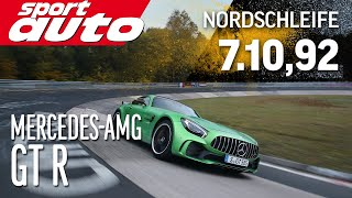 mercedes amg gt r 7 10 92 min nordschleife hot lap sport auto world s exclusive first test