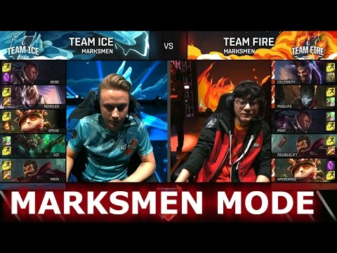 Team Ice vs Team Fire Marksmen Mode   LoL All-Star Event 2016 Day 1   ICE vs FIRE ADC