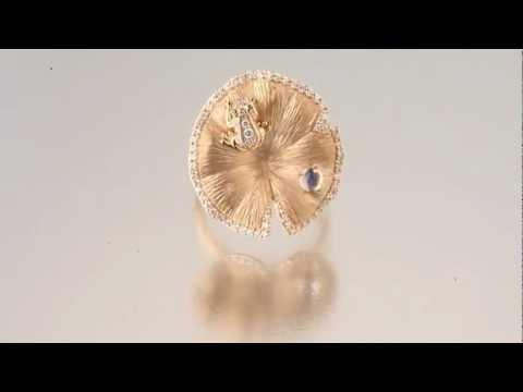 Золотое кольцо Лягушка на кувшинке