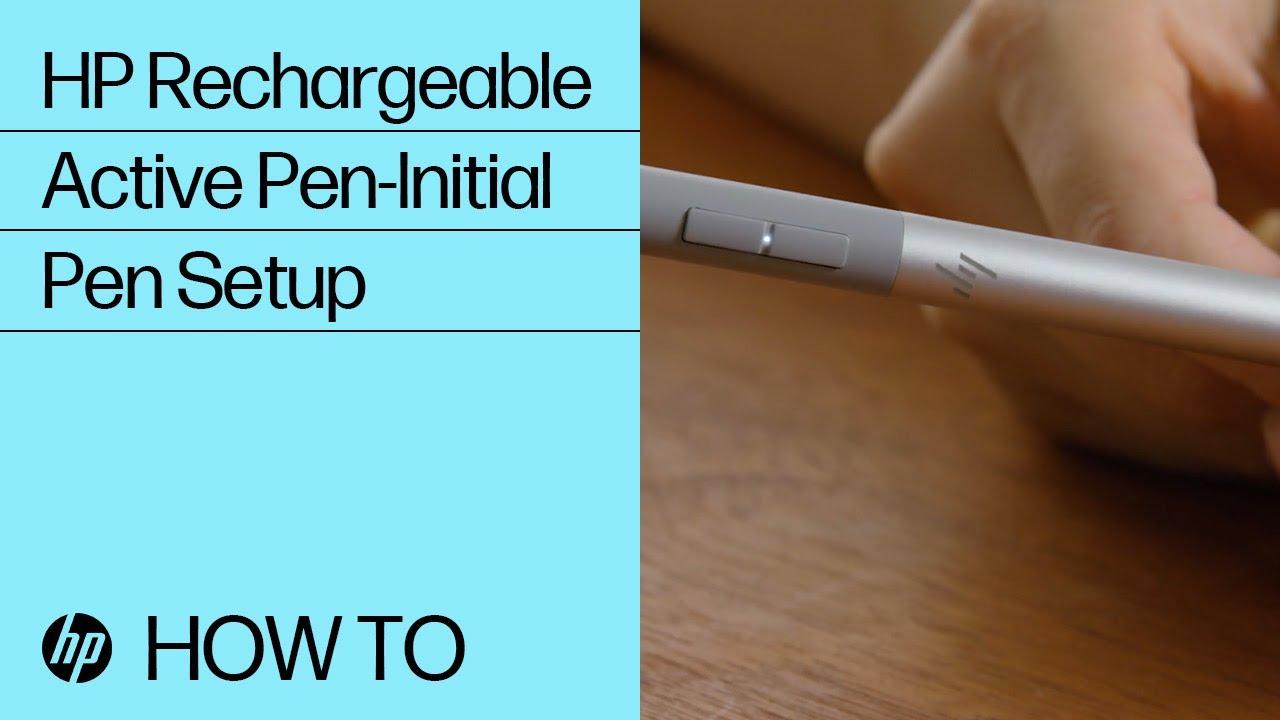HP Rechargeable Active Pen-Initial Pen Setup | HP Rechargeable Active Pen |  HP