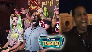 GUARDIANS OF THE GALAXY RIDE FREAKS OUT REPORTER WHO SCREAMS LIKE KOREY - Double Toasted