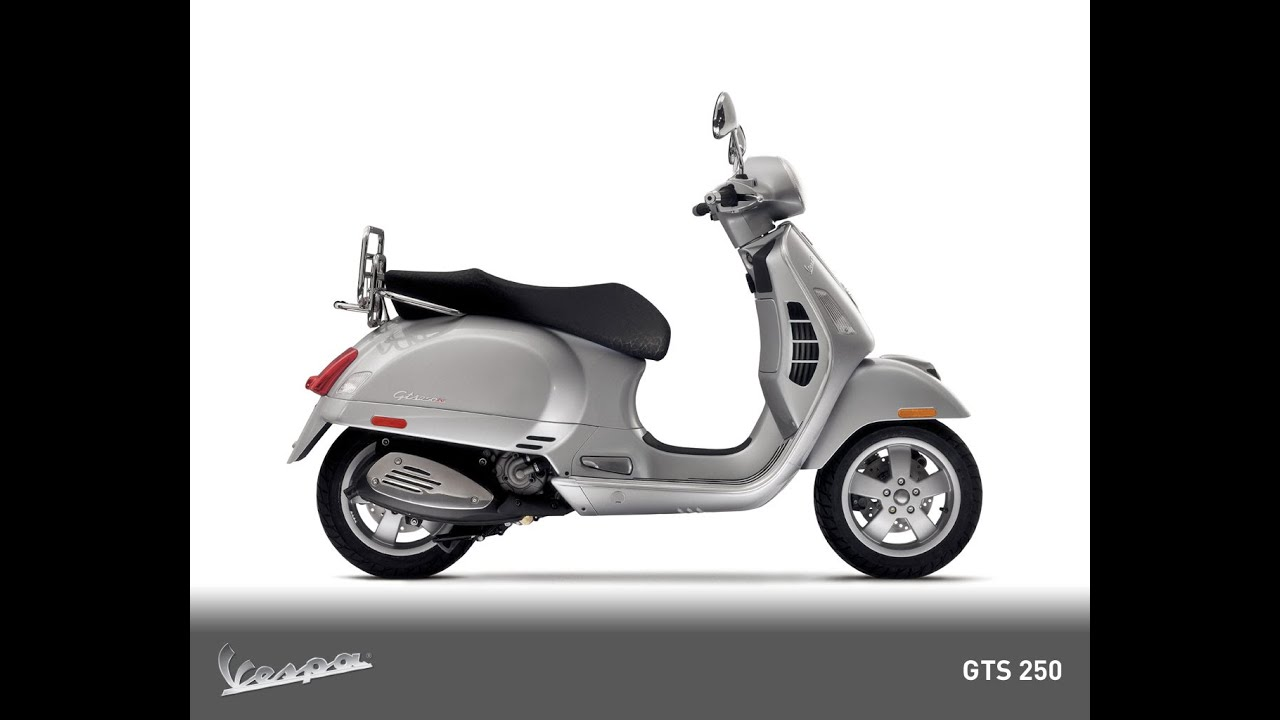 vespa 250 gts i e youtube. Black Bedroom Furniture Sets. Home Design Ideas