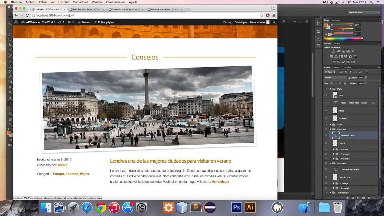 Curso para crear Plantillas / Themes de WordPress desde Photoshop ...