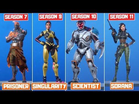 The Evolution Of All Mystery Fortnite Skins (The Visitor - Sorana)! (Season 4 - Chapter 2 Season 1)