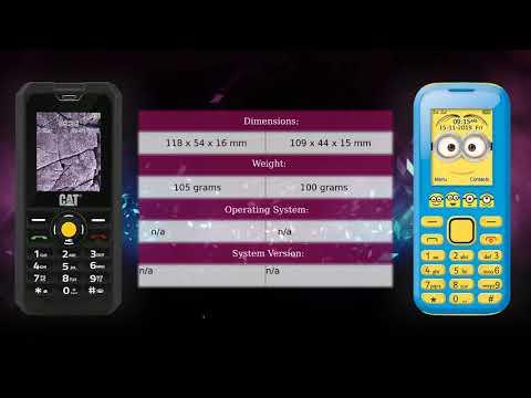 CAT B30 vs Lexibook Despicable Me - Phone comparison
