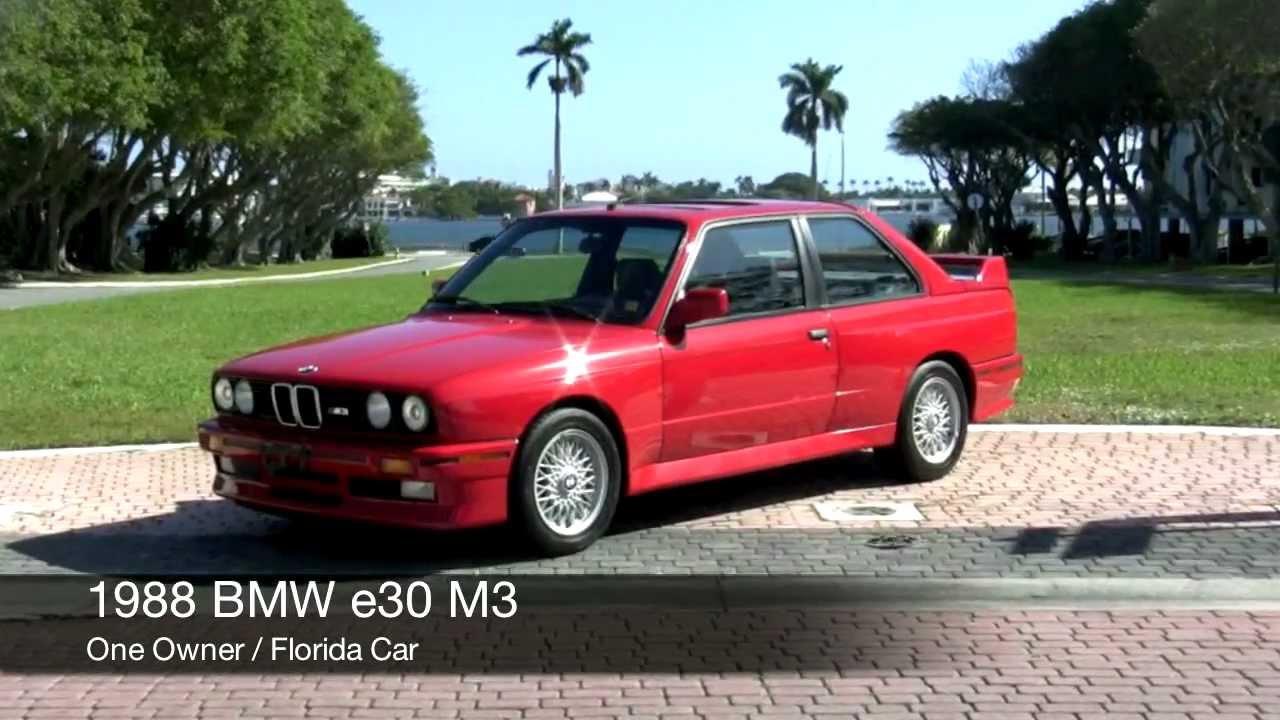 1988 BMW E30 M3 Red Community Auto Sales - YouTube
