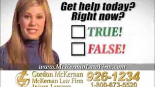 Louisiana Car Wreck & Trucking Accident Lawyer Gordon McKernan - Questions 1