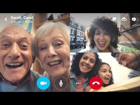 Skype group video calling for mobile phones and tablets brings everyone together