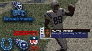 Marvin Harrison Goes OFF In Shootout | ESPN NFL 2K5 Titans Franchise Y1G2 vs Colts