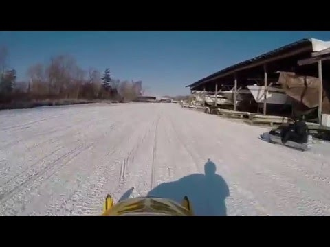 Sled Ride on Cook's Bay 2015