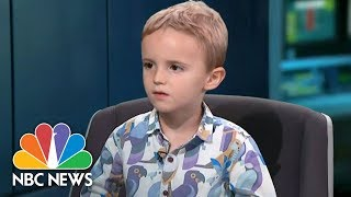 connectYoutube - Adorable Toddler Goes Rogue During Live TV News Bulletin | NBC News