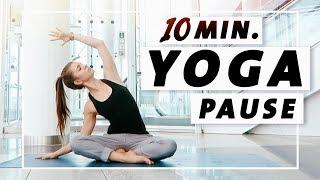 Yoga Flow Anfänger und Mittelstufe | 10 Minuten Entspannung, Dehnung & Kraft
