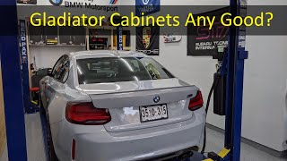 homepage tile video photo for New Garage Cabinet Installation and Review! (Gladiator Cabinets)