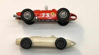 PRL Polish Matchbox Ferrari F1- comparison of the original and copy, restoration makeover toy car