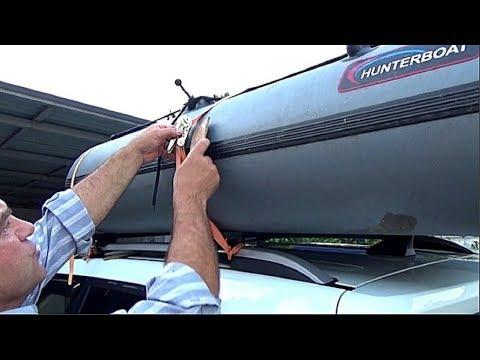 Как надежно закрепить лодку на багажнике машины. Собираюсь на рыбалку