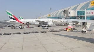 Emirates Airlines   Landing In Dubai International Airport