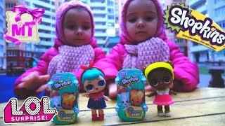 Куколки ЛОЛ 2 Волна и ШОПКИНС 3 Серия РАСПАКОВКА ИГРУШКИ для детей / LOLDolls & Shopkins Unboxing