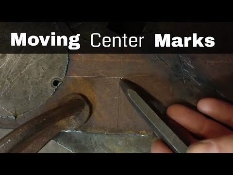 Moving Center Marks (Blacksmith Technique for Marking Out Metal)