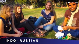Russian Girls SPEAKING Mind blowing Hindi & EATING Russian Chocolates : INDO-RUSSIAN-NEPALI MEETING