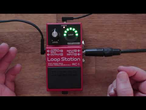 Boss RC-1 Loop Station How to Customize and Change Settings.