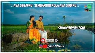 Ava segappu  sembaruthi pola Ava sirippu lyrics || Hari Status WhatsApp love song || 🎶 Crush love..