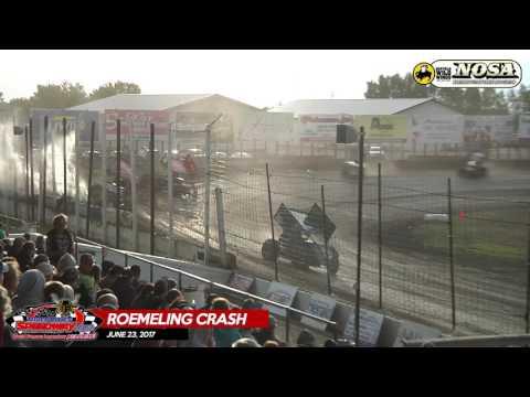 Shane Roemeling Flip - River Cities Speedway - June 23, 2017