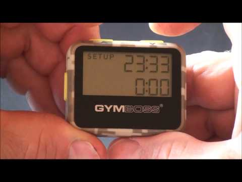 Gymboss Timer Setup and Operating Tips
