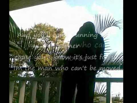 the man who can't be moved-the script