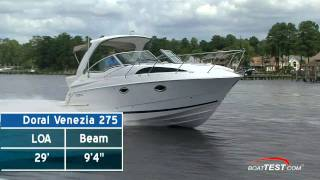 Doral 275 Venezia 2010 Cruiser Test - By BoatTest.com
